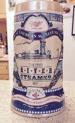"Miller High Life Brewing Company ""The River Steamer 1807"" Stein Beer Mug New"