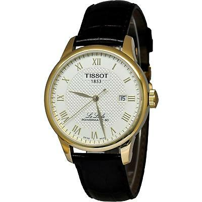 b9057c73232 Tissot Men s 39Mm Black Leather Band Steel Case Automatic Watch  T0064073626300