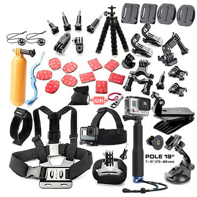 44in1 Camera Accessories Kit For Go Pro Hero 5 4 3 2 1 SJCAM SJ4000 SJ5000 D6Y3