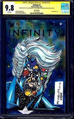 Infinity #1 BLANK CGC SS 9.8 signed CAPTAIN MARVEL SKETCH Al Milgrom LYDIC COLOR