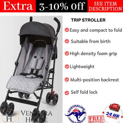 New Baby Prams Strollers Travel Trip Foldable Recline Swivel Seat Infant Toddler