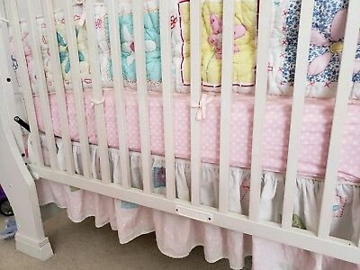 Pottery Barn Kids Girls Crib Bedding 4 Piece Set Pink with extra bedding set.