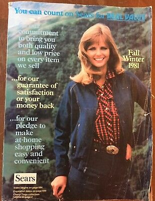 1981 Sears Fall Winter Catalog With Cheryl Tiegs - Midwest/East Edition