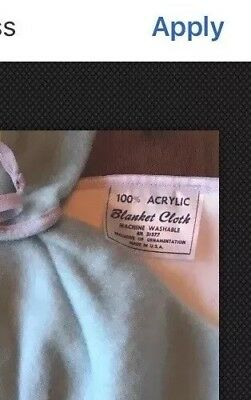 Vintage 2 Pc Baby Bunting & Hooded Sleeper 100% Acrylic Blue/White Not Worn USA