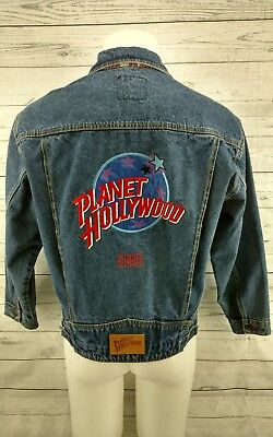 Preowned Planet Hollywood Jean Jacket Miami Blue Size Small