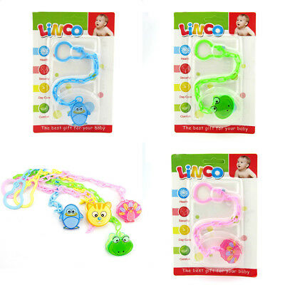 Animal Chain Holder Baby Girls Boys Dummy Pacifier Soother Nipple Chain Clip