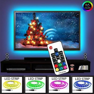 5M Neon Accent LED Strips Bias Backlight RGB Lights with Remote Control for HDTV