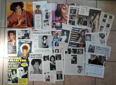 Whitney Houston Clippings  - Big Lot 3