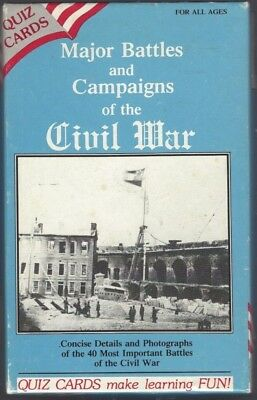 MAJOR BATTLES AND CAMPAIGNS OF THE  CIVIL WAR - 40 Quiz Cards - USED / LN