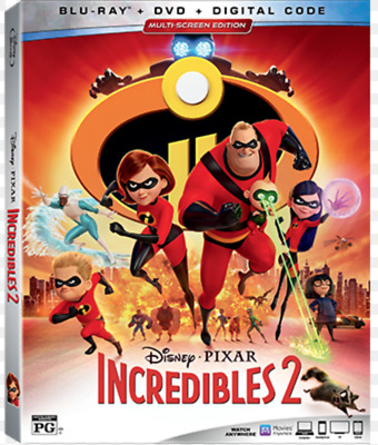 The Incredibles 2 w/Slipcover USA (Blu-ray, DVD, Digital) BRAND NEW SEALED