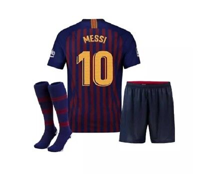 Barcelona Messi Home Navy Blue Red Kids Jersey, Shorts & Socks All Youth Sizes