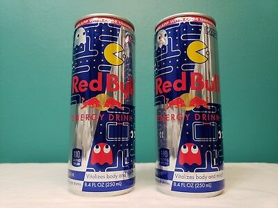 2 Pac-man Bandai Namco Red Bull Limited Edition Collectible 8oz Cans with Codes