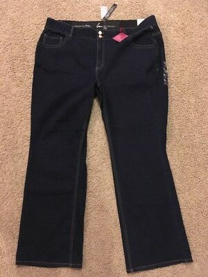 NWT Lane Bryant Womens 26 Reg Straight Leg Tighter Tummy Technology Jeans NEW