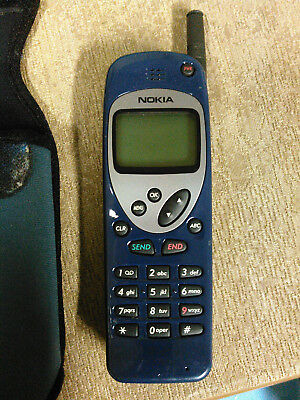 Vintage Nokia 252N phone w manual & carrying case NO BATTERY fair condition
