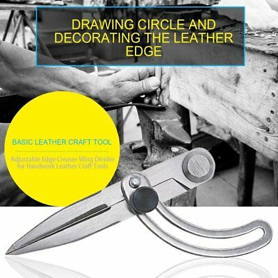 DIY Leather Craft Making Rotating Tool Adjustable Wing Divider Edge Creaser BY