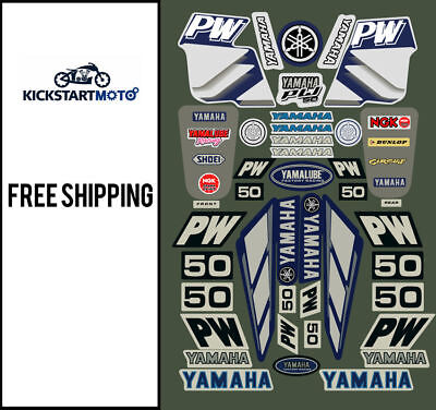 Yamaha PW50 Pee Wee 50 All Years Decals And Motocross Dirt Bike Sticker Kit
