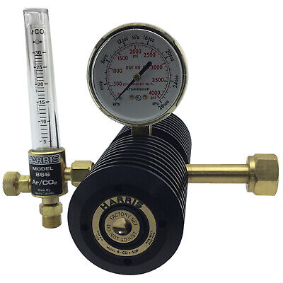 Harris 6CD100F High-Flow Two Stage CO2 Regulator - New Multi Finned Design