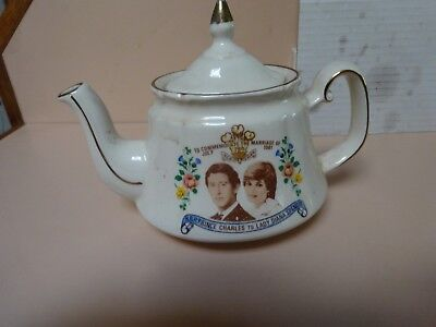 Royal Wedding teapot.Prince Charles & Lady Diana Spencer .Price Kensington.
