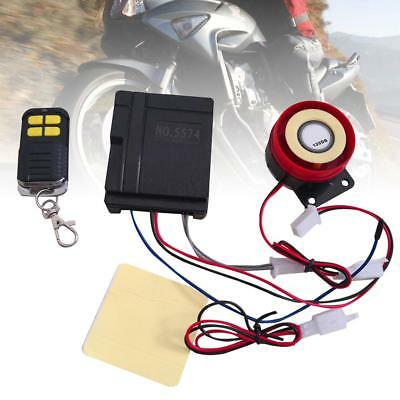 12V 125db Motorcycle Motorbike Security Alarm System Anti-theft Remote Alarm