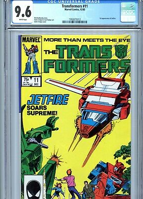 Transformers #11 CGC 9.6 White Pages 1st App Jetfire Marvel Comics 1985