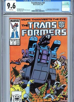 Transformers #27 CGC 9.6 White Pages 1st Ratbat & Trypticon Marvel Comics 1987