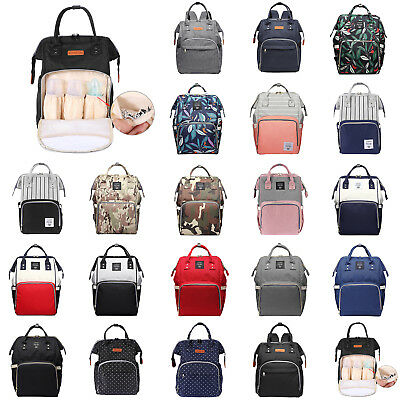 LEQUEEN Multifunctional Mummy Baby Diaper Nappy Backpack Capacity Changing Bag