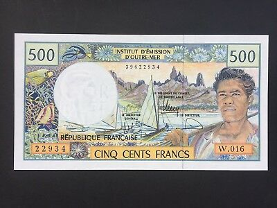 French Pacific Territories 500 Francs issued 1992 aUNC