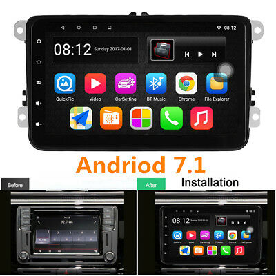 "8"" Android 7.1 Radio Player 2DIN GPS RDS DAB for VW Polo Golf 4 Passat B6 B5 B7"