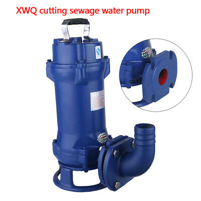 1.1KW Sump Pump Industrial Sewage Cutter Grinder Cast iron Submersible TOP