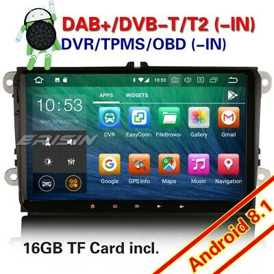 "DAB+ 9"" Android 8.1 Car Stereo For VW Caddy Golf Passat Polo Jetta Skoda Tiguan"