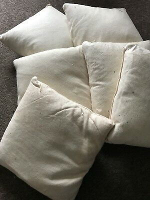 Vintage  Fabric Cushion Pillow Feather Filled Heavy Shabby Chic 35 X 35  Woolen