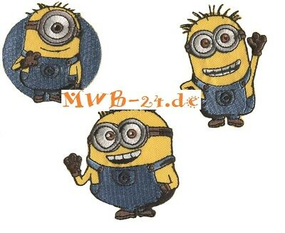 1 Aufbügler♥Bügelmotiv♥Applikation Iron on Patch Minions Tom Aufnäher ♥NEU♥