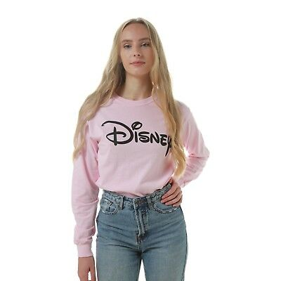 Disney - Logo - Ladies - Long sleeved T-shirt - Pink - Size S,M,L,XL