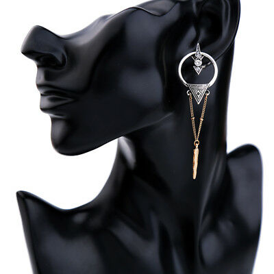 Vintage Art Deco Style Gold Silver Dangle Earrings Retro Gift Quality UK