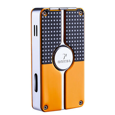 COHIBA Black Yellow Classic Lighter 3 Torch Jet Flame Cigar Lighter Punch New