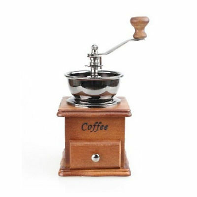 Kitchen Manual Coffee Spice Grinder Wooden Hand Coffee Mill With Ceramic Hand