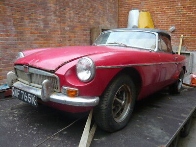 Mgb Roadter 1972 Restoration Project One Owner 23 Years Mot & Tax Exempt