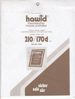Hawid Stamp Mounts: 210x170mm Black Backing For Large Souvenir Sheets New Pack