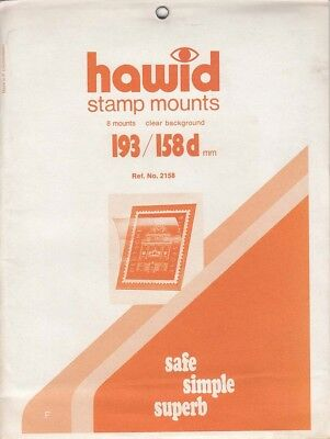 Hawid Stamp Mounts 193x158 mm Clear For Large Blocks New Fresh Pack Of 5