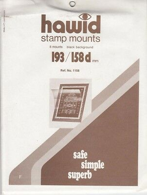 Hawid Stamp Mounts 193x158 mm Black For Large Blocks New Fresh Pack Of 5