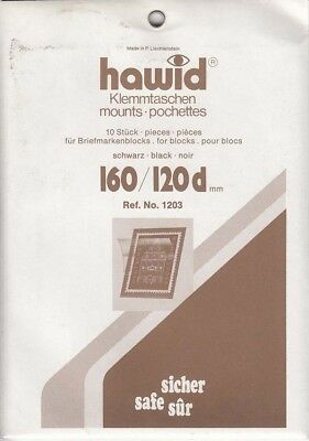 Hawid Stamp Mounts 160x120 mm Black For Blocks & Souvenir Sheets New Pack Of 5