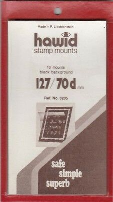 Hawid Stamp Mounts 127x70 mm Black For Plate Blocks US Jumbo Issues New Fresh