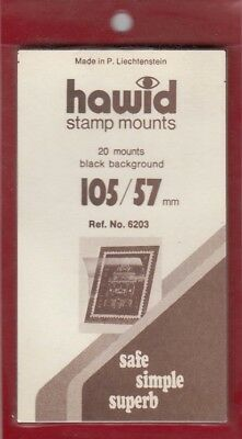 Hawid Stamp Mounts 105x57 mm Black For Plate Blocks US Giori Press Pack Of 20