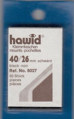 Hawid Stamp Mounts 40x26 mm Black For US Commemoratives Horizontal New Pack