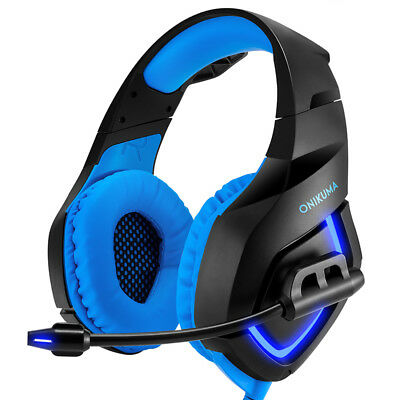 Onikuma Gaming Headset 3.5mm Stereo LED Game Headphones Mic For Computer Laptop