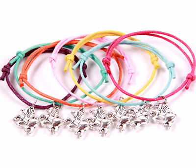 4PCS Unicorn Wish Bracelets in Organza bags GIRLS PARTY BAG FILLERS Favours Gift