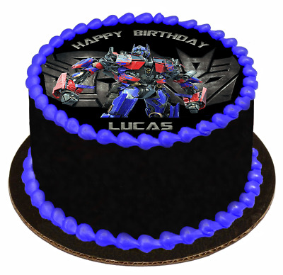 EDIBLE CAKE TOPPER Image Icing Sheet - Transformers