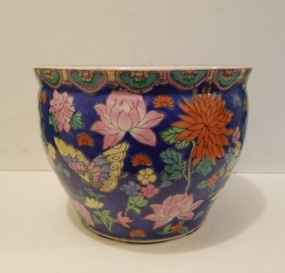Vintage Chinese Asian Oriental Porcelain Planter Vase