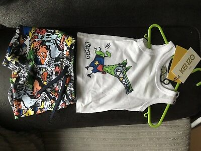 Baby Kenzo Shorts And Vest 9 Months