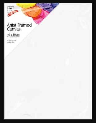 Artist Plain White Stretched Painting Canvas/acrylic Framed Sketch